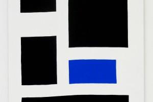 Position / bleu, 2015, acrylique sur tissu – 146 x 114 cm