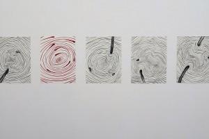 sans titre, 2016, aquarelles sur papier, 36 x 48 cm