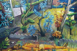Solar Garden, 2016, huile sur toile, 162 x 228 cm