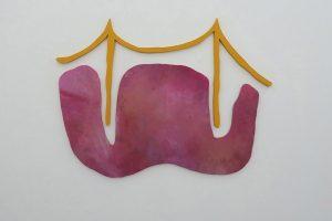 Forme non-référencée, 2015, acrylique sur bois, 90 x 133 cm cm