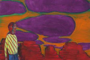 Au bord du canyon, 2016, huile sur toile, 165 x 205 cm