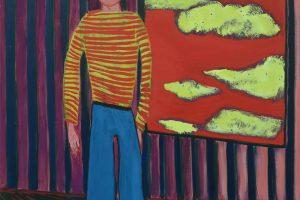 Peintre, 2016, huile sur toile, 146 x 114 cm