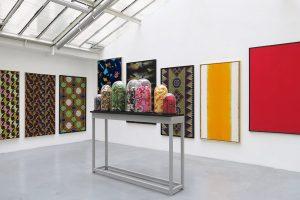 Vue partielle de l'exposition Bernard Rancillac «La peau du monde» Galerie Jean Brolly, 2016
