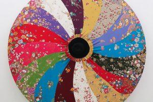La peau du monde – 2014, tissu tendu sur châssis et feutre – diam. 210 cm