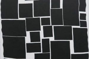 Construction, 2016, acrylique sur tissu, 70 x 70 cm