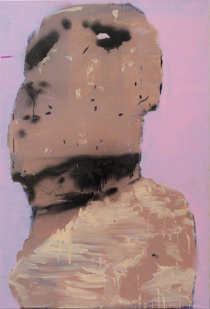 Damage, 2014-2017 – laque vinyle et huile sur toile, 230 x 155 cm