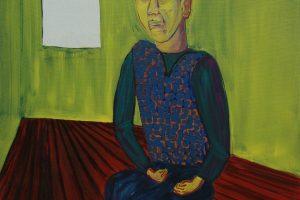 Je t'écoute, 2015-2016 – huile sur toile, 162 x 130 cm