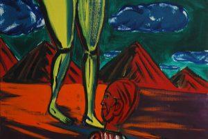 Je suis soumis, 2016 – huile sur toile, 100 x 82 cm
