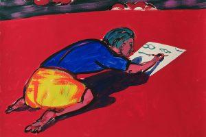Sans titre, 2016 – tempera sur papier, 74,4 x 54 cm