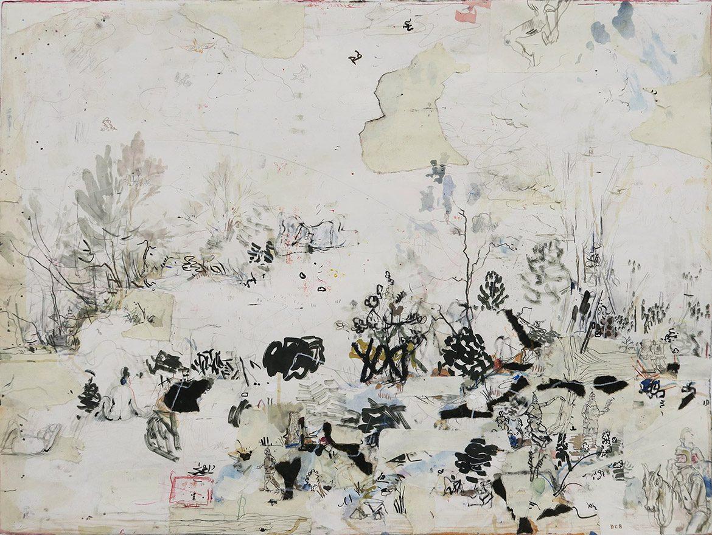 Sans titre, 2017, technique mixte sur papier, 56 x 75,5 cm