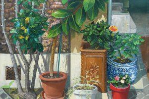 Botanica, 2017, huile sur toile, 146 x 114 cm