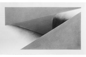 Gouffre 15, poudre de graphite sur papier, 55 x 90 cm