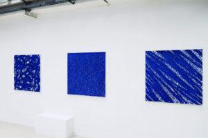 Terre anonyme (histoire de bleu) – 2018 Pigments naturels sur toile – 100 x 100 cm
