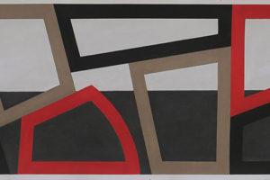 Forms and Rythm Sketch #5, 2014, pastel sur papier, 40,3 x 151 cm