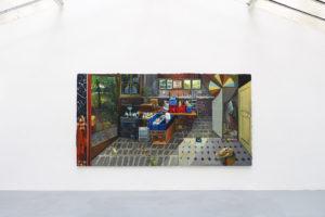 Big bang, 2013, huile sur toile, 200 x 380 cm