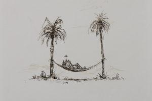 Sans titre, 2016, encre sur papier, 22 x 18,7 cm