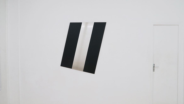 Jan Kämmerling – Plakat #2, 2018, laque sur aluminium, 120 x 103 cm