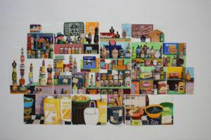 Épicerie du monde, 2018, gouache sur papier, 20 éléments – dimensions variables