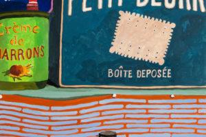 Épicerie du monde (Petit-beurre), 2018, gouache sur papier, 50 x 40 cm