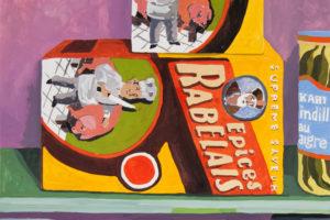 Épicerie du monde (Rabelais), 2018, gouache sur papier, 31 x 41 cm