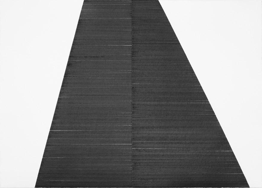 Pyramide #4, 2019, graphite sur papier, 90 x 126 cm