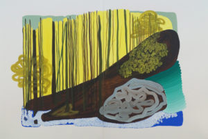 La Forêt, 2018, gouache sur papier, 105 x 152 cm