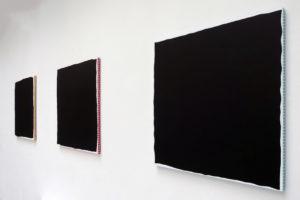 3 Carrés maximum, 2015, acrylique sur tissu, 80 x 80 cm chacun
