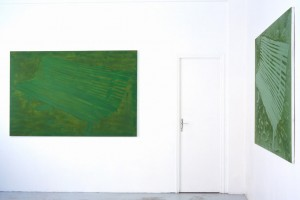 Adam ADACH, « Banc parisien », 1999, huile sur toile, 130 x 195 cm