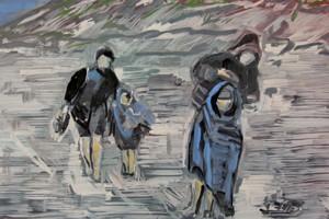 « Retour précipité », 2010, huile sur toile, 50 x 61 cm