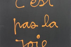 « C'est la joie » « C'est pas la joie » (recto/verso), acrylique sur bois, 60 x 50 cm