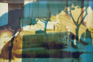 Sans titre #2 – Série « Superpositions », 2009, Jet d'encre sur papier et sur verre, 93 x 134 cm