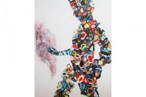 « Personnage à la tête d'éléphant », 2005-2007, huile et acrylique sur toile, 178 x 140 cm