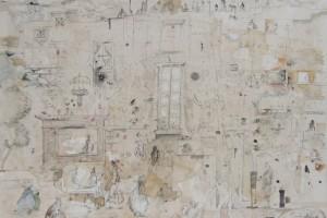 « p.m. », 2007, encre, aquarelle, gouache et crayon sur papier, 76 x 105 cm