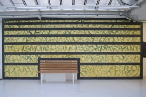 « Around Here », 2011, wall drawing, pastel sur mur