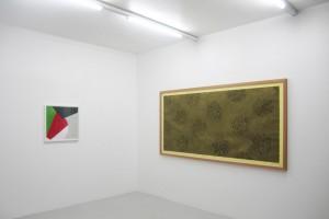 « Surface Construction #6 », 2009, pastel et graphite sur papier, 61 x 62 cm / « Zacatecas », 2008, pastel sur papier, 122 x 245 cm