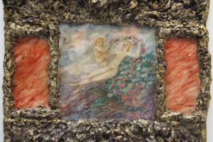 « Dicotylèdane et Phanérograme », 2006, technique mixte, 100 x 103 x 13 cm