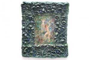 « La cueillette des quetches », 2006, technique mixte, 107 x 88 x 7 cm