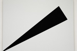« Sans titre (12P noir-lune) », 2006, laque sur toile, 46 x 61 cm