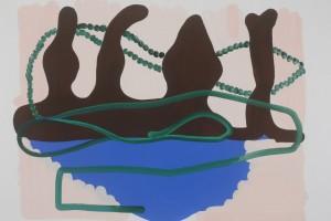 « paysage et perles », 2011, gouache sur papier, 50 x 65 cm