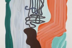 « silhouette centrée », 2011, gouache sur papier, 120 x 80 cm