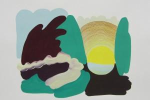 « soleil », 2012, gouache sur papier, 56 x 76 cm