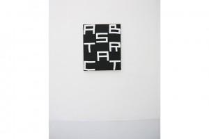« abstract », 2009, acrylique sur tissu, 100 x 81 cm