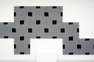 « Mosaïque », acrylique sur tissu, 12 toiles, 80 x 80 cm chacune
