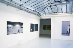 « Raspail », 2008, jet d'encre sur toile, 100 x 198 cm ; « Rémanence #04 », 2008, jet d'encre sur toile, 2 (100 x 99 cm) ; « Sans titre #33 », 2008, jet d'encre sur toile, 182 x 95 cm