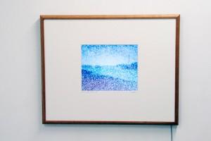 « Snow over Signac - Les balises », 2005, disque dur, écran plat, 70 x 88 cm