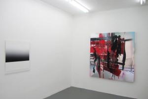 « subversifs A », 2010, acrylique sur plexiglass, 82 x 73 cm / « pour voir 3711 », 2011, acrylique sur PPMA, 170 x 161 cm