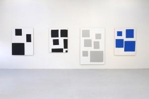 série « scénario », 2013, acrylique sur tissu – vue d'atelier