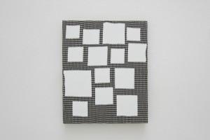 « scénario », 2013, acrylique sur tissu, 46 x 38 cm
