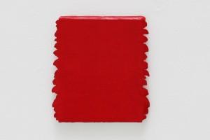 Monochrome rouge n°197 – 1997, acrylique sur toile, 30 x 24 cm