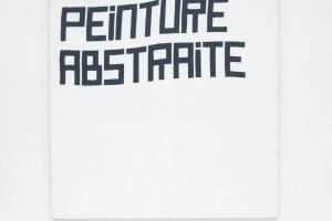 « Peinture abstraite », 2004, acrylique sur tissu, 130 x 130 cm
